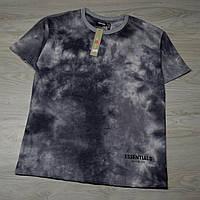 Мужская футболка ESSENTIALS Tie Dye light grey с качественным принтом, фото 1