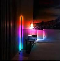 Угловой лед торшер 150 см, лед ночник, RGB подсветка, светильник светодиодный, LED лампа, торшер разноцветный
