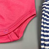 Комплект боди, штаны девочка розовый Интерлок Marry Bee Украина 62(р), фото 3