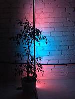 Торшер сенсорного управления, LED лампа неон, светильник RGB, ночник черного цвета 1м, угловая лампа