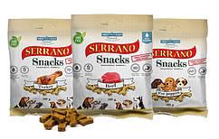 Ласощі для собак Serrano Snacks м'які печеньки 100г