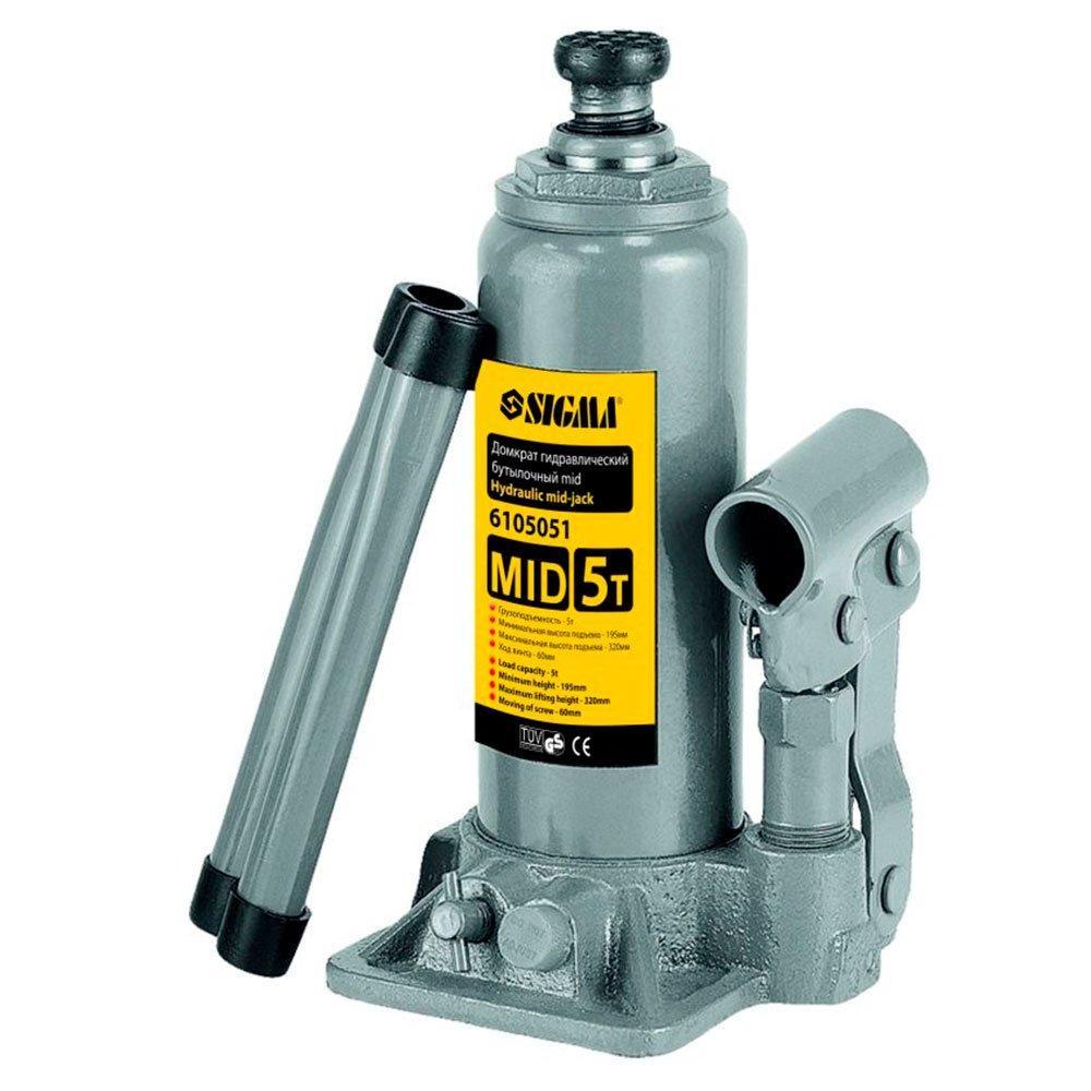 Домкрат бутылочный гидравлический mid 2т, 148-276 мм, Sigma (6105021)