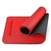 Коврик для фитнеса и йоги Power System Yoga Mat Premium PS-4060 Red, фото 1