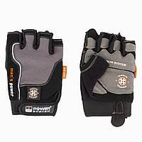Перчатки для фитнеса и тяжелой атлетики Power System man's Power PS-2580 Black / Grey L, фото 1