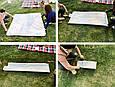 Покривало для пікніка бежеве в клітинку, килимок для пікніка 150х200 см, пляжний килимок (коврик для пляжа), фото 4