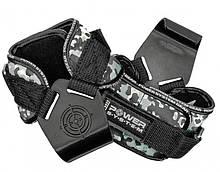 Крюки для тяги на запястье Power System Hooks Camo PS-3370 Black / Grey L