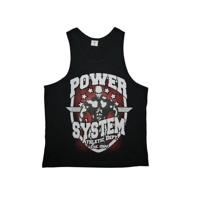 Майка для фитнеса и бодибилдинга Power System PS-8001 Elite Squad Black L