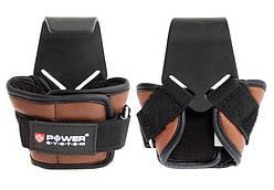 Крюки для тяги на запястье Power System Hooks PS-3300 Brown L