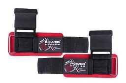 Крюки для тяги на запястье Power System Hardcore Hooks PS-3310 Black / Red
