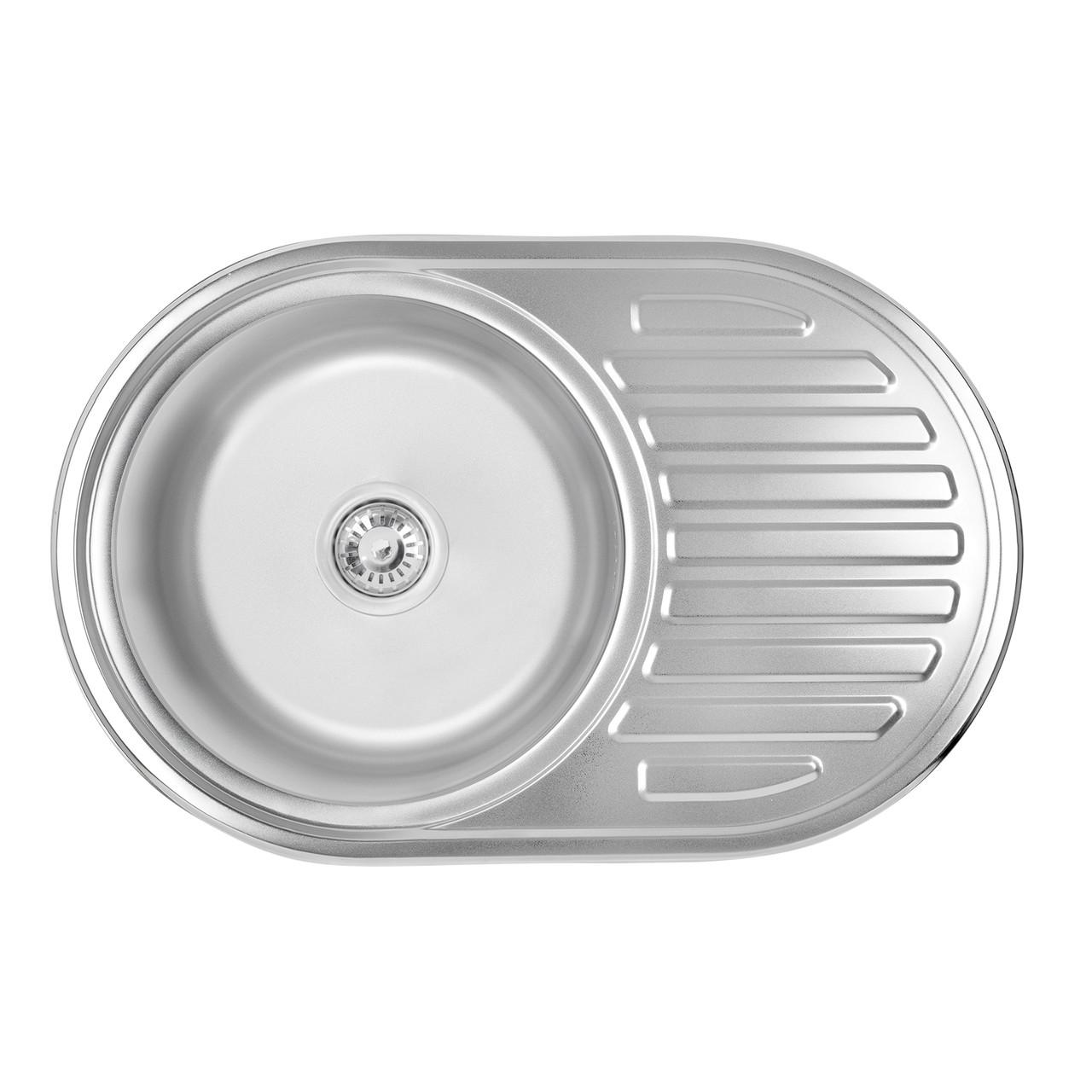 Кухонна мийка Lidz 7750 Satin 0,8 мм (LIDZ7750SAT)