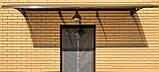 Готовий збірний дашок  3,05х1,5 м Хайтек монолітний полікарбонатом 4 мм, фото 2
