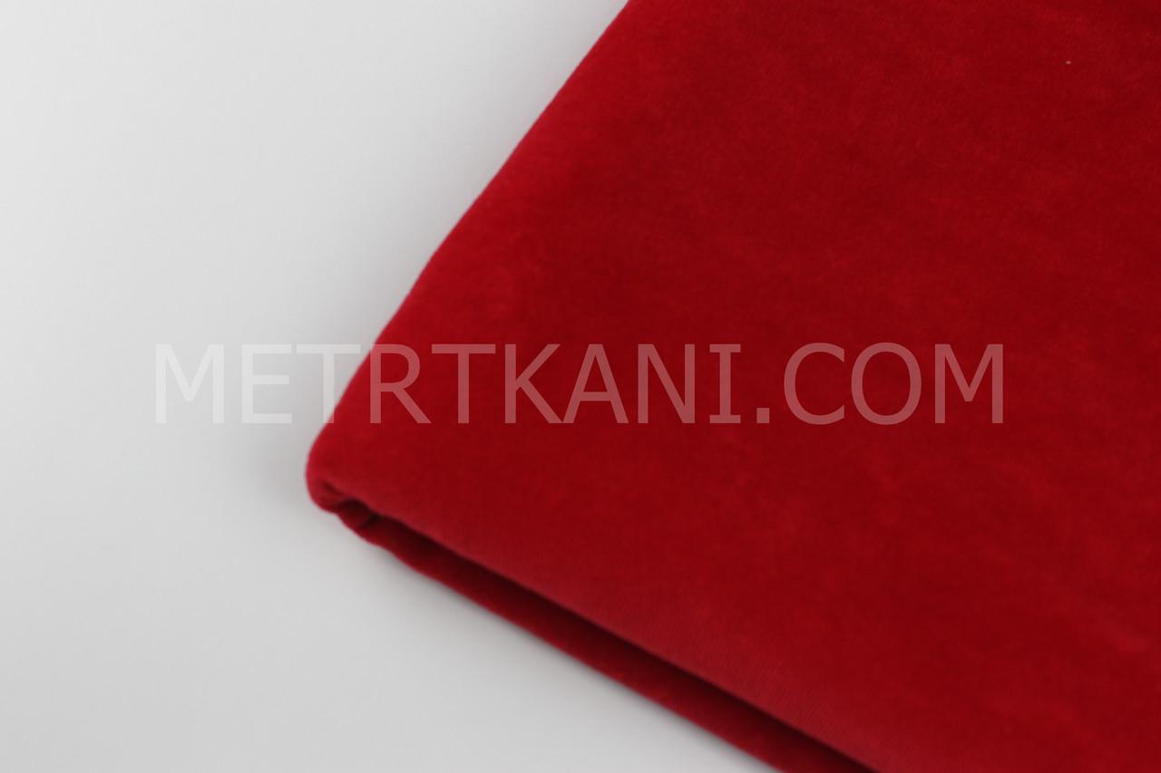 Клаптик. Велюр х/б червоного кольору, 92*180 см