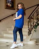 Жіноча літня футболка тканина віскоза + паєтки короткий рукав розмір: 52-54, 56-58,60-62,64-66, фото 3