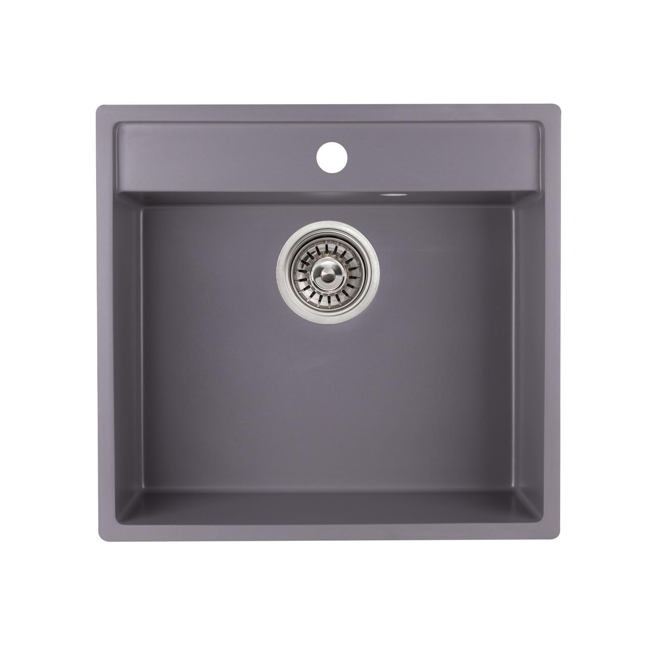 Кухонна мийка Qtap CS 5250 GRE (QT5250GRE471)