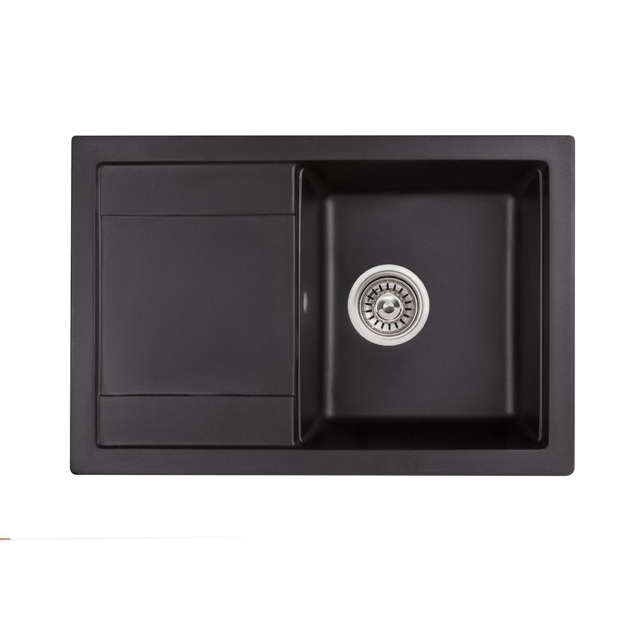 Кухонна мийка Qtap CS 7449 BLA (QT7449BLA404)