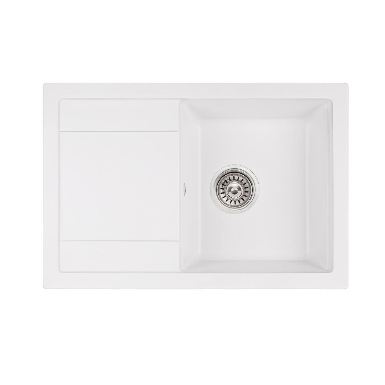 Кухонная мойка Qtap CS 7449 White (QT7449WHI650)