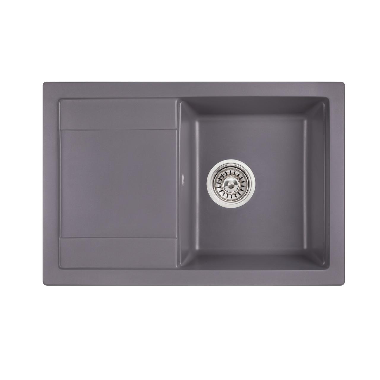 Кухонна мийка Qtap CS 7449 GRE (QT7449GRE471)