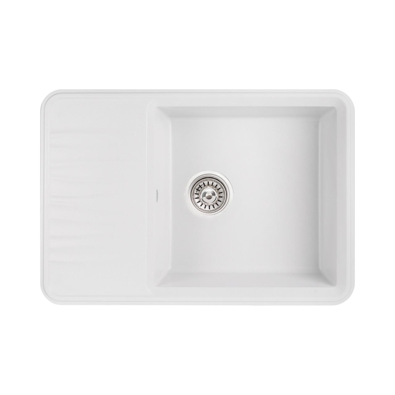 Кухонная мойка Qtap CS 7440 WHI (QT7440WHI650)