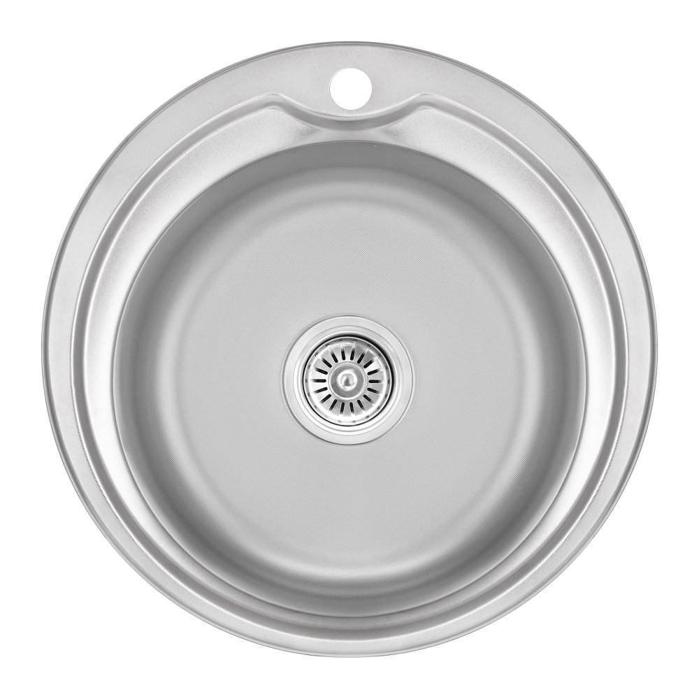 Кухонная мойка Lidz 510-D 0,8 мм Micro Decor (LIDZ510DEC)