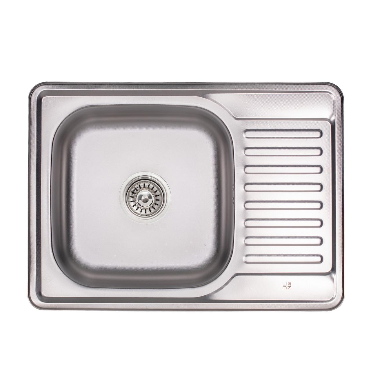 Кухонная мойка Lidz 6950 Micro Decor 0,8 мм (LIDZ6350MDEC)