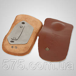 Шкіряні устілки з металевим супінатором і вкладишем-краплею 3/4 довжини - Ersamed SL-504