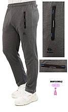Летние спортивные штаны Shooter трикотажные прямые брюки серые