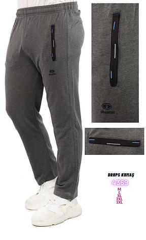 Летние спортивные штаны Shooter трикотажные прямые брюки серые, фото 2