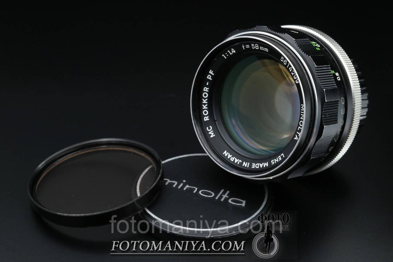 Minolta MC Rokkor 58mm f1,4