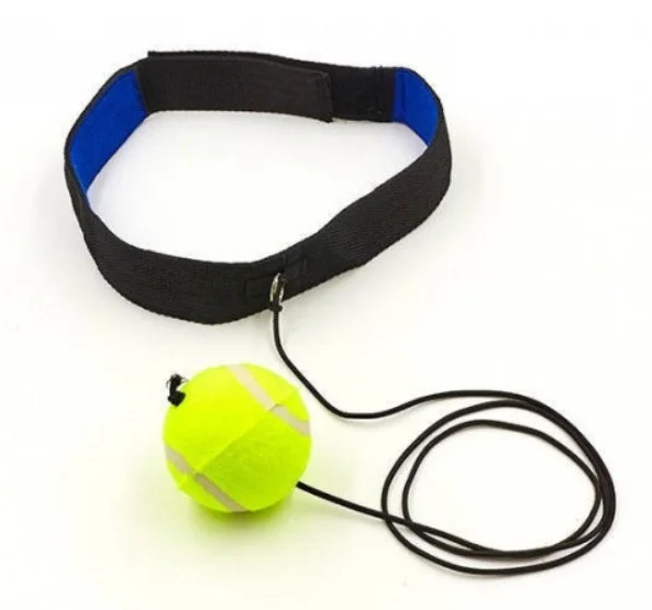 Тренажер эспандер для бокса повязка на голову с мячиком Boxing Ball