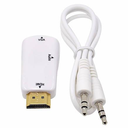 Перехідник HDMI to VGA з аудіо входом 3.5 мм, фото 2