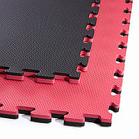 Мат-пазл (ластівчин хвіст) 4FIZJO Mat Puzzle EVA 100 x 100 x 2 см 4FJ0168 Black/Red, фото 1