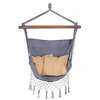 Крісло-гамак сидячий (бразильський) з подушками Springos 130 x 100 см HM021, фото 1