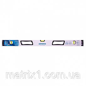 Уровень алюминиевый, 800 мм, усиленный, рукоятки, фрезерованный, 3 глазка, магнитный AZIMUT Gross (Италия)