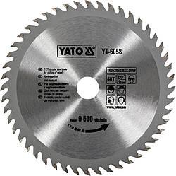 Диск пиляльний YATO по дереву 160x20x2.8x2.0 мм, 48 зубців (YT-6058)