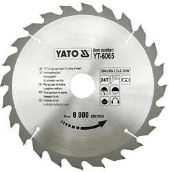 Диск пиляльний YATO по дереву 200х30х3.2x2.2 мм, 24 зубця (YT-6065)