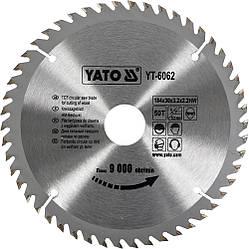Диск пиляльний YATO по дереву 184х30х3.2х2.2 мм, 50 зубців (YT-6062)