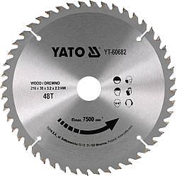 Диск пиляльний YATO по дереву 216х30х3.2х2.2 мм, 40 зубців (YT-60682)