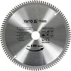 Диск пиляльний YATO по алюмінію 250х30х3.0x2.2 мм, 100 зубців (YT-6095)