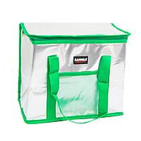 "(GIPS), Переносна сумка холодильник Зелена - ""Sannea"" Cooler Bag на 16 л, ізотермічна сумка для їжі, термосумка"
