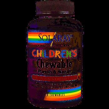Solaray Children's Chewable Vitamins and Minerals, Детские жевательные витамины (120 шт.)
