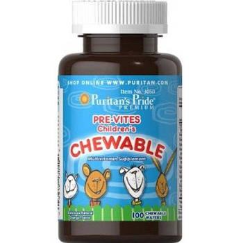 Puritan's Pride Pre-Vites Children's Multivitamin 100 Chewables