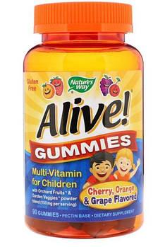 Nature's Way Alive! Gummies Multi-Vitamin for Children, Детские витамины (90 шт.)