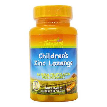 Thompson Children's Zinc with Vitamin C 5 mg, Цинк для детей (45 шт.)