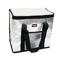 "(GIPS), Сумка термос ""Sannea"" Cooler Bag, Чорна переносна термосумка на 25 л, ізотермічна сумка для їжі, обідів"