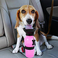 Портативна пляшка-поїлка для собак в дорогу (Aqua Dog, пластик) переносна дорожня поїлка собаки на вулиці