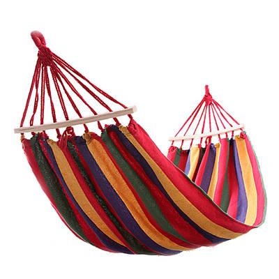 Мексиканский подвесной гамак с поперечной планкой 190150 см красный 149806