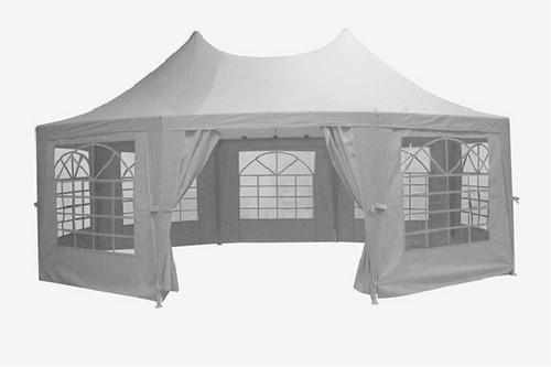 Тент шатер складной 2,5x3,4 м. белый BST 590556