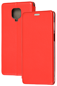 Чохол-книжка Оригінал Xiaomi Redmi Note 9S / Note 9 Pro (Червоний)