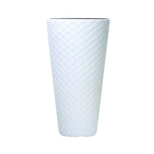 Белый вазон для цветов 57 л. Польша 590606