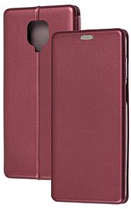 Чохол-книжка Оригінал Xiaomi Redmi Note 9S / Note 9 Pro (бордовий)